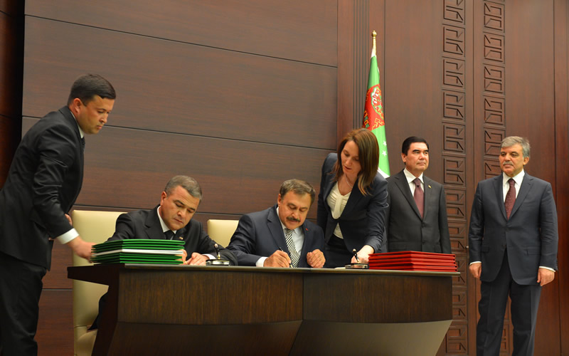 d12497302 President Abdullah Gül and President Gurbangulu Berdimuhamedov of  Turkmenistan held a joint news conference at the Çankaya Presidential  Palace.